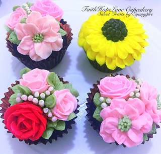 Customized Flower Cupcakes (Promo Sales)