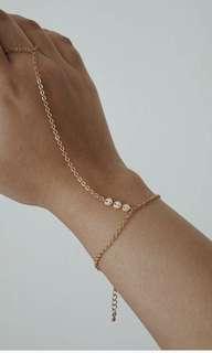 Gold bracelet ring