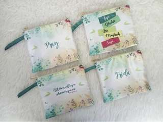 CUSTOM SATIN POUCH green forest