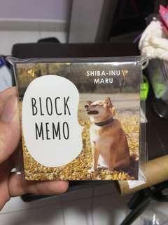 Shiba-inu Maru Post-It/ Notepad