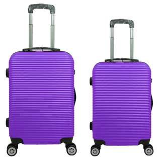 Tas Koper Polo Love - Fiber ABS 1 Set 20 & 24 Inch 801 Violet