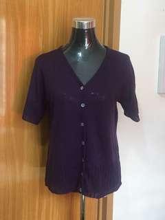 Purple Light Knit Blouse