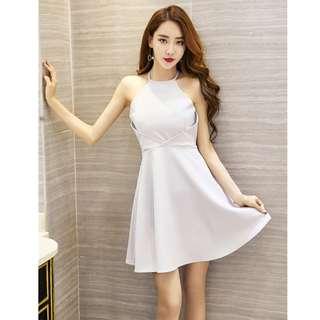 Dress Collection - Cutie Sexy Halter Design Mini Dress
