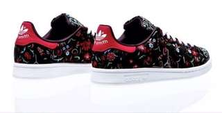 Adidas Stan Smith shoes floral black