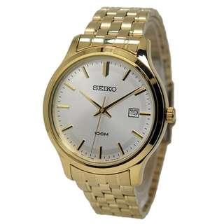 Seiko SUR148P1 Men Neo Classic Quartz Gold Jam Tangan Pria SUR148