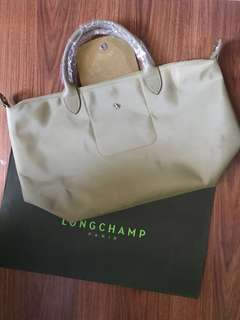 Longchamp Moss Green NEO Short Handle