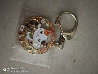Japan lucky cat keychain