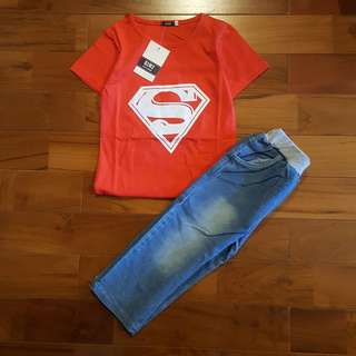 Superman set merah