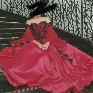 ‼️FOR RENT‼️ RED BALL GOWN OFF SHOULDER GOWN