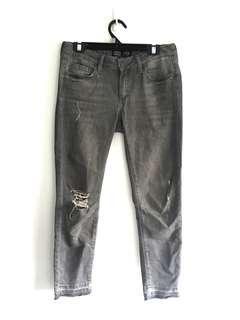 Zara grey ripped jeans