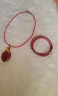 CHOCKER with free pink bracelet