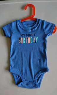 BNWOT Carter's My First Birthday Romper
