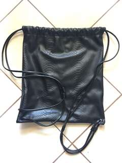Faux Leather Drawstring