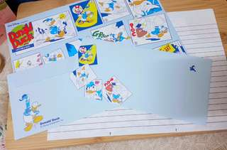 Donald duck Japan Disney letter set with cover