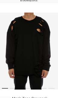 Culture kings saint morta distressed sweater black