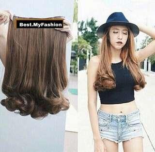 Hairclip Biglayer Curly 50cm Seven Eleven #diskonloh