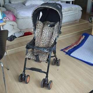 Japan luxury brand COMBI Baby stroller trolley - Leopard Print