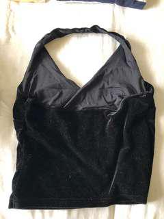 Vintage black halter neck