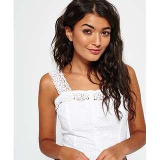 🚚 現貨 Superdry極度乾燥 英國代購帶回 白色短版上衣 小可愛 尺寸XS