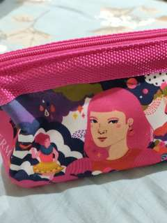 Bioderma Makeup pouch cosmetics by Diela Maharani