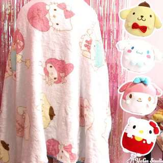 Sanrio Characters Blanket in a Plushie