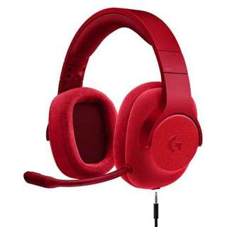 Brand new Logitech G433 Surround Sound Gaming Headphone Red