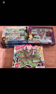 🚚 Instock limited set only kids hair accessories set brand new 18pcs set (frozen/Sofia/My Little Pony)