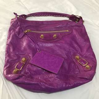 Authentic Balenciaga Day Bag Amethyst