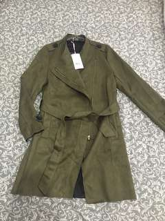 Winter Coat jrep green army with price tag