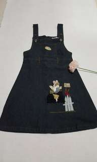 Denim jumper dress for girls(size 8/9)