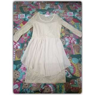 Gaudi peplum ivory lace Size S fit to M