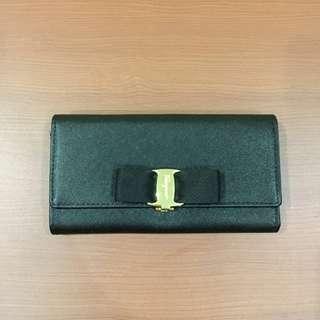 Salvatore Ferragamo Black Bow Wallet