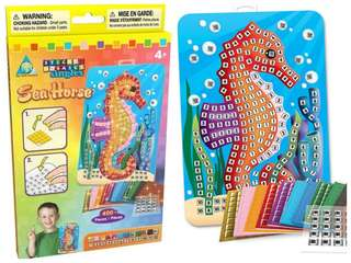 Sticky Mosaics Activity (Seahorse / T-Rex / Sunflower / Car / Parrot / Bunny)