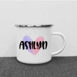 Personalised kid's mug | customised children's mug | enamel mug