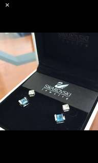 Swarovski vintage crystal earrings set