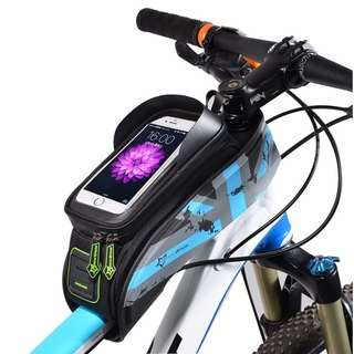 6 Inch Bicycle Front Tube Frame Bag Waterproof Touch Screen Bike Phone Pouch Bike Accessories