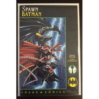 Spawn Batman #1(1994) Frank Miller Story, Todd McFarlane Art, Spawn Vs Batman Classic All-Out Brawl Fest! Nuff Said!!