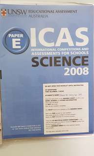 ICAS 2008 Primary 6 English, Writing,Math, Science