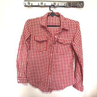 🚚 ❗️3 for $10❗️Red Plaid Top