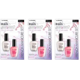 L.A. BLISTER FRENCH MANICURE PINK/WHITE BFM402 and 403