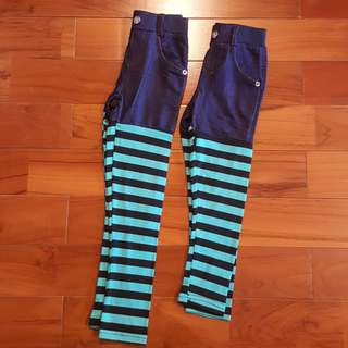 Legging stripe tosca denim