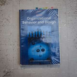 🚚 Organizational Behavior and Design for AB1601