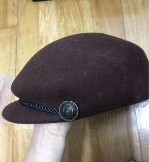 🚚 日本購入 Lowrys Farm 毛呢帽 深棕色 軍帽 貝雷帽 Lepsim 海軍風
