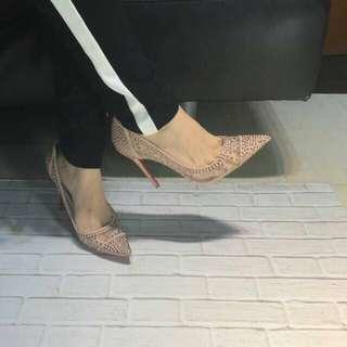 Louboutin Swarovski heels 11cm