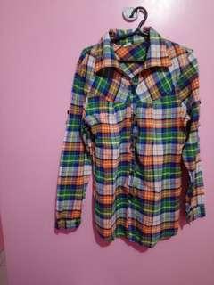 Checkerd Long sleeves used twice