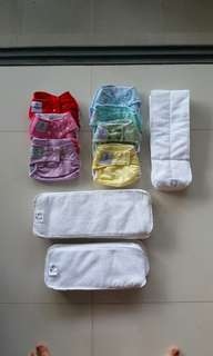 Almost New Moo Moo Kow one size cloth diaper (7 diapers)
