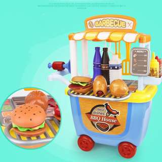 Kids Burger Kiosk Playset