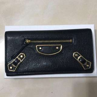 Balenciaga Metallic Edge Long Wallet GHW