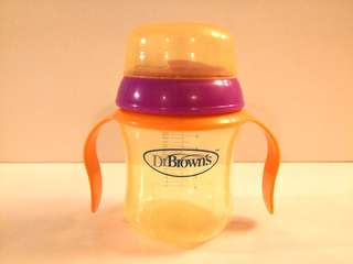 PRELOVED DR. BROWN'S - 6OZ SOFT SPOUT TRAINING CUP - in good condition with small flaw