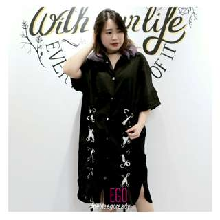 Dress oversize Midi Import Korea